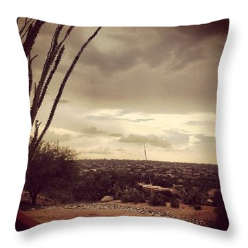 Late Day Storm Throw Pillow