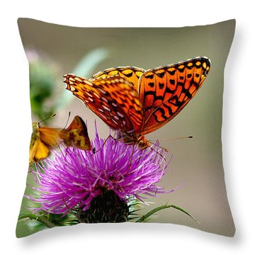 Late For Lunch Throw Pillow