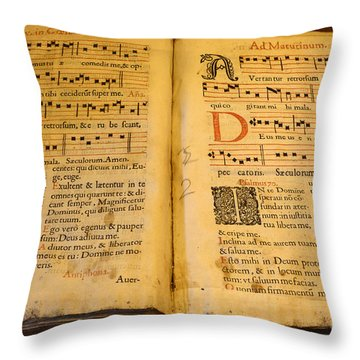 Latin Hymnal 1700 Ad Throw Pillow