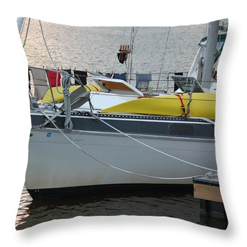 Laundry Day Throw Pillow by Suzanne Gaff
