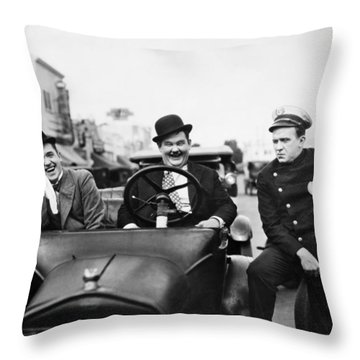 Laurel And Hardy, 1928 Throw Pillow by Granger