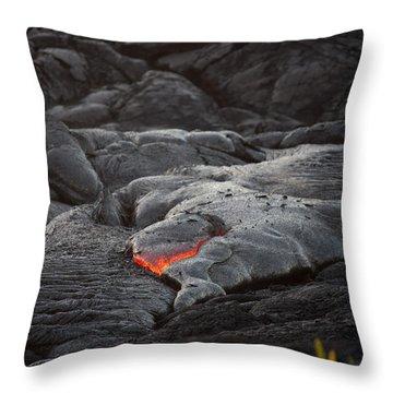 Lava Throw Pillow by Ralf Kaiser