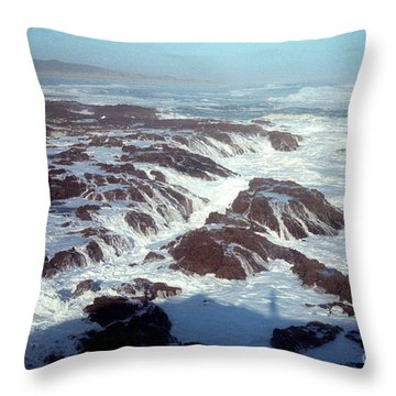 Throw Pillow featuring the photograph Lava Rock 90 Mile Beach by Mark Dodd