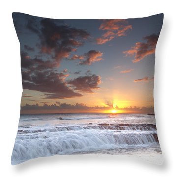 Lava Shelf Waterfall Throw Pillow by Roger Mullenhour