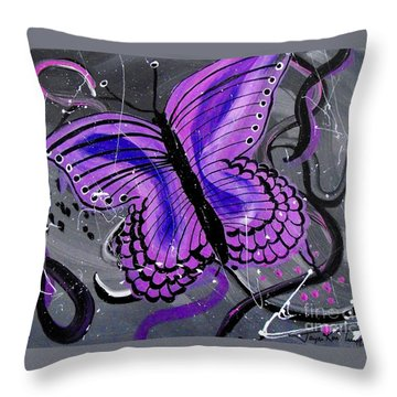 Lavendar Ripple Throw Pillow