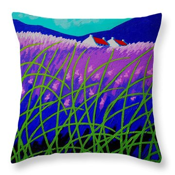 Lavender Hill Throw Pillow by John  Nolan