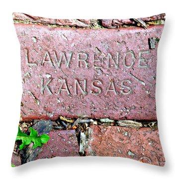 Lawrence Kansas Brick Paver Throw Pillow