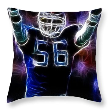 Lawrence Taylor  Throw Pillow by Paul Ward