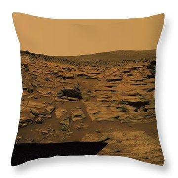 Layered Exposures Of Rock Throw Pillow by Stocktrek Images