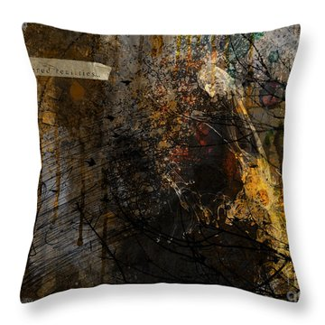 Layered Realities Abstract Composition Painting Print Throw Pillow