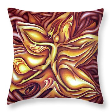Layers Cii Throw Pillow