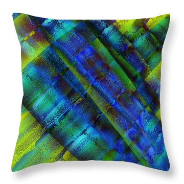 Throw Pillow featuring the photograph Layers Of Blue by David Pantuso