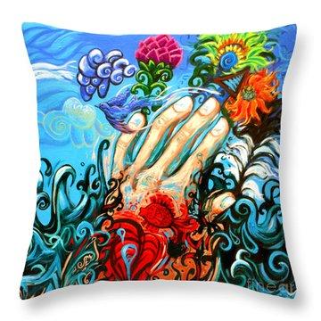 Le Destin Du Humain Grande Throw Pillow by Genevieve Esson