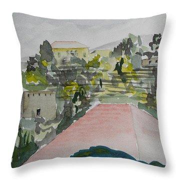 Le Liban Perdu 1  Throw Pillow by Marwan George Khoury
