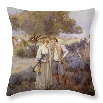 Le Retour De Cythere Throw Pillow by William Lee