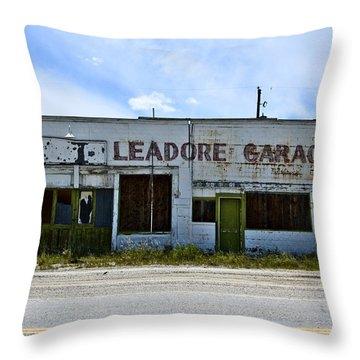 Leadore Garage Throw Pillow