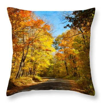 Leaf Peeping Throw Pillow by Lois Bryan