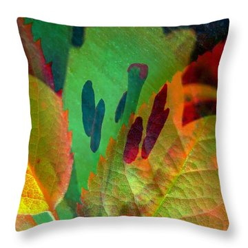 Leaf Reflections Throw Pillow by Shirley Sirois