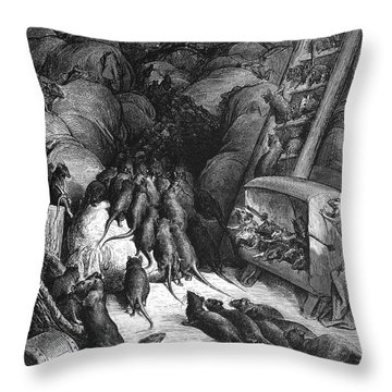 League Of Rats, 1868 Throw Pillow by Granger