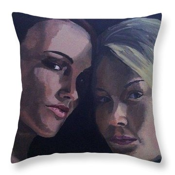 Leah And Tiffany Throw Pillow