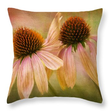 Lean On Me Throw Pillow by Donna Eaton