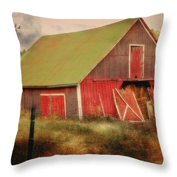 Lean To The Left Throw Pillow by Mary Timman
