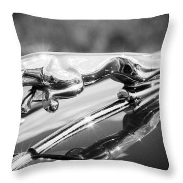 Leaping Jaguar Throw Pillow by Sebastian Musial