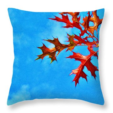 Leaves Against The Sky Throw Pillow by Judi Bagwell