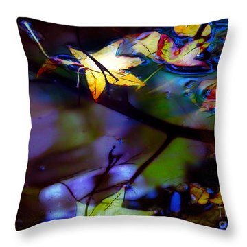 Leaves And Reflections Throw Pillow by Judi Bagwell
