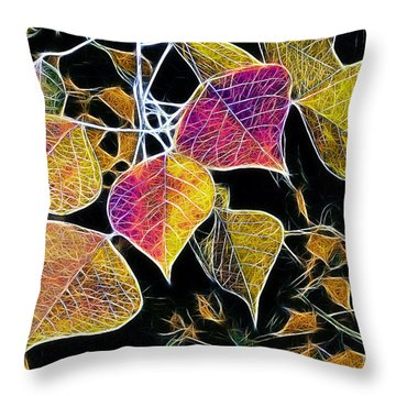 Leaves Throw Pillow by Judi Bagwell