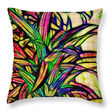 Leaves Of Imagination Throw Pillow by Judi Bagwell