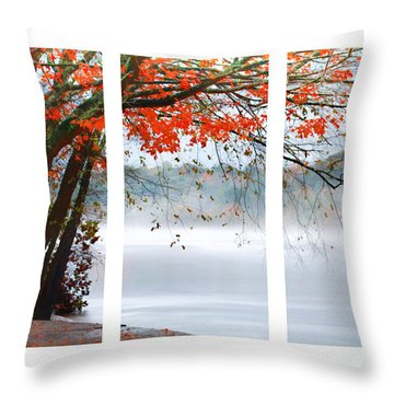 Leaves Of Red Throw Pillow by Darren Fisher