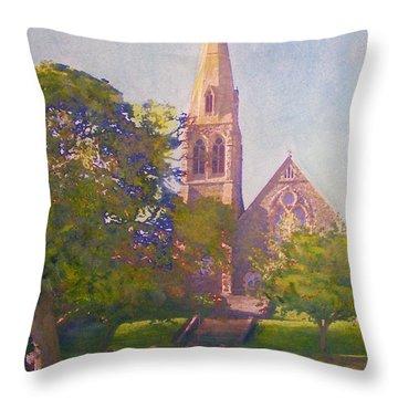 Leckie Memorial  Church  Peebles Scotland Throw Pillow