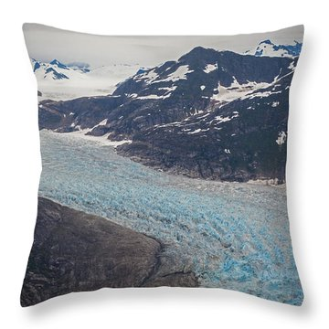 Leconte Glacial Flow Throw Pillow