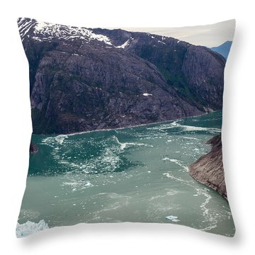 Leconte Glacier Throw Pillow