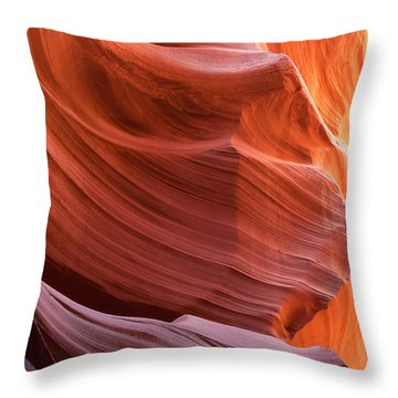 Ledges Throw Pillow by Bob and Nancy Kendrick