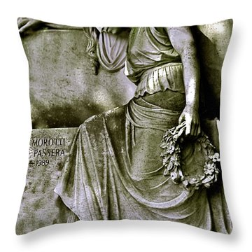 Left In Peace Throw Pillow by Valerie Rosen