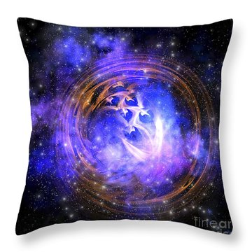 Leftover Remnants From A Supernova Throw Pillow