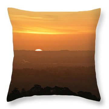 Leicestershire Sunrise Throw Pillow by Linsey Williams