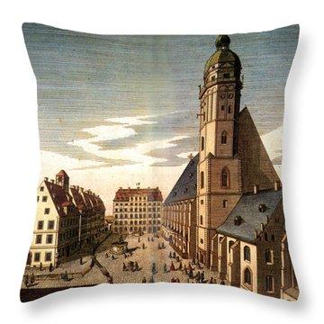 Leipzig: St. Thomas Church Throw Pillow by Granger