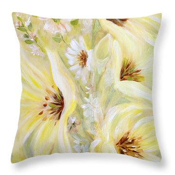 Lemon Chiffon Throw Pillow