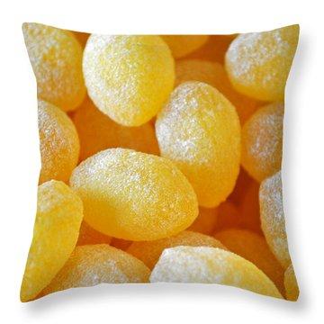 Lemon Drops Throw Pillow by Gwyn Newcombe