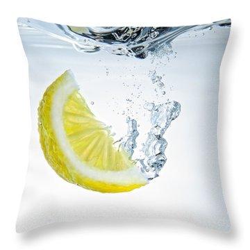 Lemon Water Throw Pillow by Silvio Schoisswohl