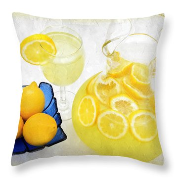 Lemonade And Summertime Throw Pillow by Andee Design