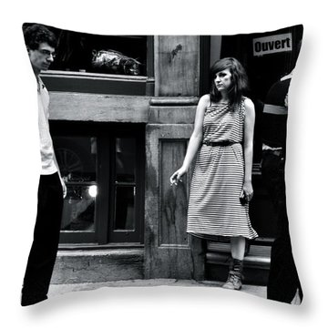 L'ennui  Throw Pillow by Valerie Rosen