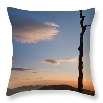 Lenticular Clouds Over Shenandoah National Park Throw Pillow by Dustin K Ryan