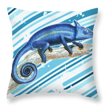 Leo Loves Lizards Throw Pillow by Nikki Marie Smith