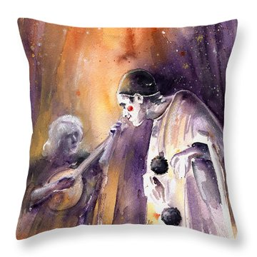 Leo Sayer In The Show Must Go On Throw Pillow by Miki De Goodaboom