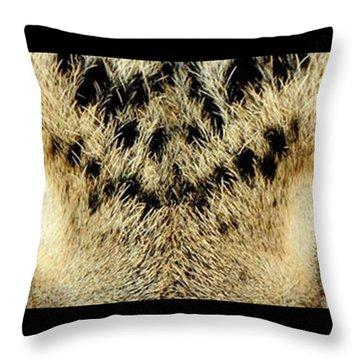 Leopard Eyes Throw Pillow by Sumit Mehndiratta