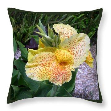 Throw Pillow featuring the digital art Leopard Flower by Claude McCoy